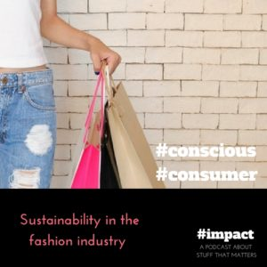 Fashion Podcast Sustainability in fashion and conscious consumption