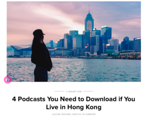 4 Podcasts You Need to Download if You Live in Hong Kong