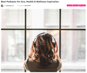 Best Podcasts for Eco, Health and Wellness Inspiration, Green Queen