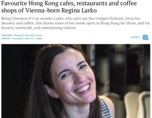 Favourite Hong Kong cafes of Vienna-born Regina Larko